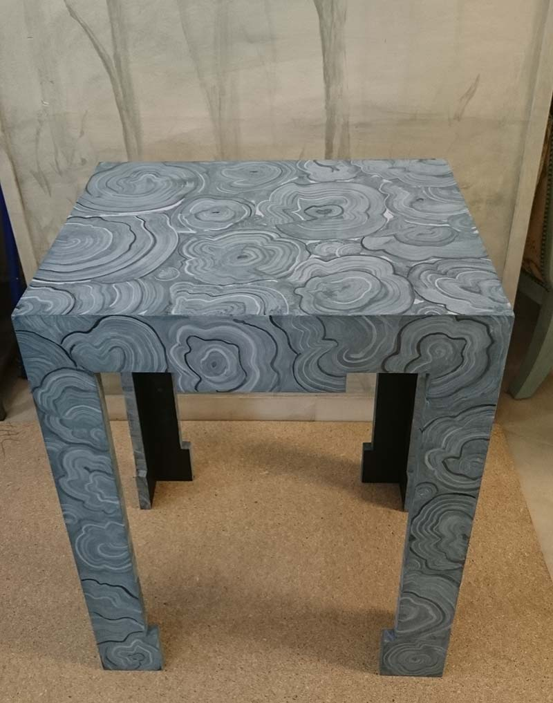 Ikea furniture painting table decorated with paint