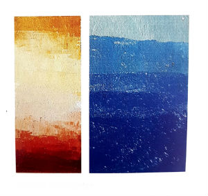 comme le mélange des couleurs de peinture