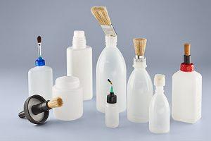 Dosificador con brocha, pincel, fieltro o espuma