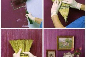 Pintar una pared con efecto vintage