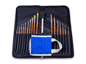 Kit Pinceles Acuarelas con Waterbox para el agua